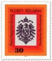 Stamp: Reichsadler mit Krone (Reichsgründung 1871)