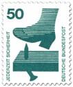 Stamp: Schuh - Nagel im Brett