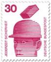 Stamp: Schutzhelm - fallender Ziegelstein