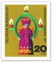 Stamp: Weihnachtsengel aus Holz (Weihnachtsmarke 1971)