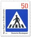 Stamp: Verkehrsschild: Zebrastreifen für Fussgänger
