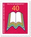 Stamp: Aufgeschlagenes Buch (Internationales Jahr des Buches)