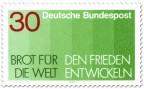 Stamp: Brot für die Welt -  den Frieden entwickeln