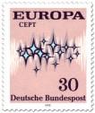 Stamp: Europamarke 1972 (Sterne, 30)