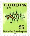 Stamp: Europamarke 1972 (Sterne)