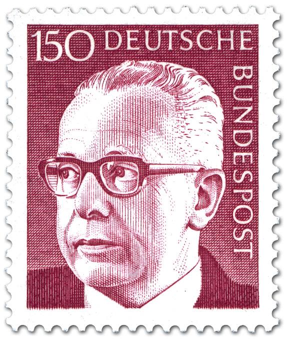 Stamp Gustav Heinemann 150