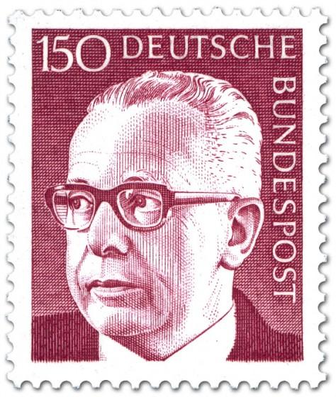 Stamp: Gustav Heinemann (150)