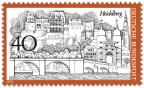 Stamp: Heidelberg Stadtansicht Schloss