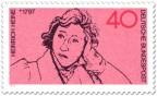 Stamp: Zeichnung von Heinrich Heine (Dichter)