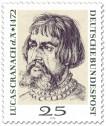 Stamp: Lucas Cranach d. Ä. (Portrait von Dürer)