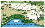 Stamp: München: Mehrzweckhalle und Schwimmstadion