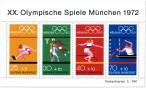 Stamp: Olympiablock 2 (Sportarten, Sommerspiele München 1972)