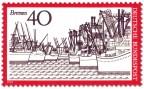 Stamp: Bremen Hafen-Ansicht