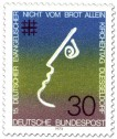 Stamp: Gesicht (nicht vom Brot allein, ev. Kirchentag)