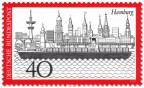 Stamp: Hamburg Stadtansicht mit Hafen