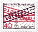 Stamp: 50 Jahre Interpol (Funkturm)