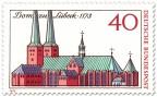 Stamp: 800 Jahre Lübecker Dom (Zeichnung)