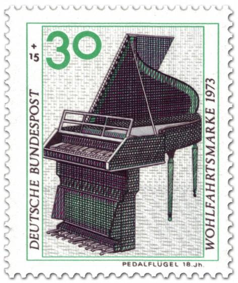 Stamp: Pedalflügel aus dem 18. Jahrhundert