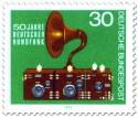 Stamp: Rundfunkgerät (50 Jahre deutscher Rundfunk)