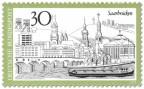 Stamp: Saarbrücken Stadtansicht