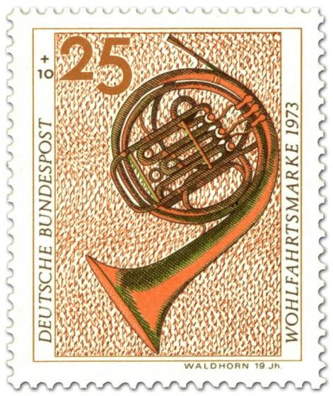 Stamp: Waldhorn aus dem 19 .Jahrhundert