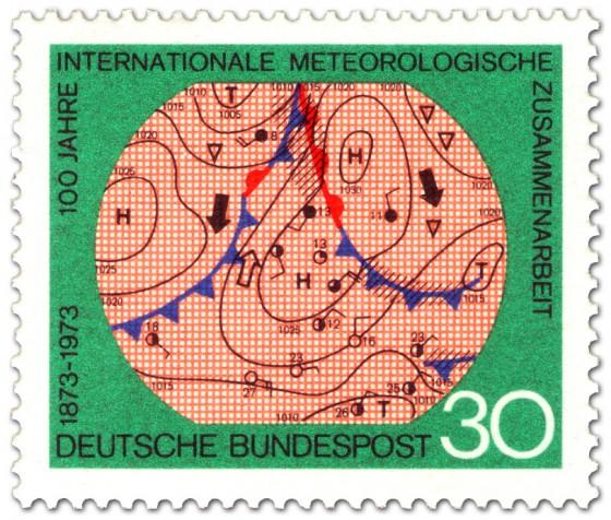 Stamp: Wetterkarte Meteorologie
