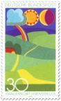 Stamp: Abstraktes Landschaftsbild (Wandern gibt Lebensfreude)