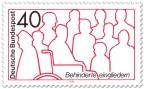 Stamp: Behinderte Eingliedern (im Rollstuhl)