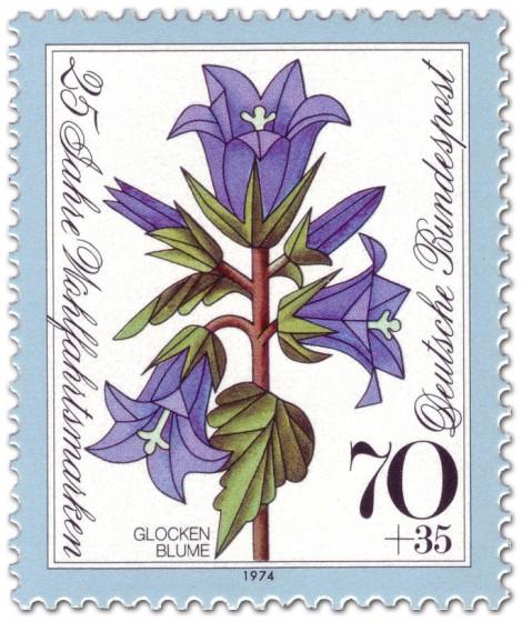Stamp: Blaue Glockenblume