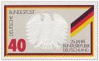 Stamp: Bundesadler Deutschland (Schwarz Rot Gold)