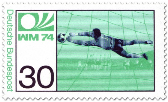 Stamp: Fussball Torwart (WM 1974)