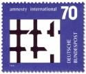 Stamp: Gebrochenes Gitter (Amnesty International)