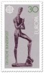 Stamp: Emporsteigender Jüngling von Wilhelm Lehmbruck (Europamarke)
