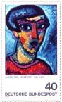 Stamp: Blauer Kopf - Alexej von Jawlensky