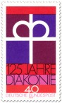 Stamp: Kronenkreuz -  125 Jahre Diakonie