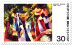 Stamp: Mädchen unter Bäumen von August Macke