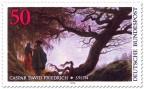 Stamp: Paar den Mond betrachtend (von Caspar David Friedrich)