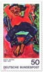 Stamp: Schlafender Pechstein von Erich Heckel