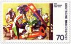 Stamp: Stillleben mit Fernrohr von Max Beckmann