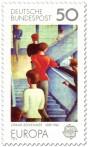 Stamp: Bauhaustreppe - Gemälde von Oskar Schlemmer