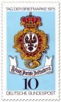 Stamp: Briefmarke Posthausschild (Preußische Posthalterei)
