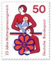 Stamp: Mutter mit Kind und Frau mit Müttergenesungswerk-Logo