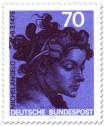 Stamp: Frau, Skulptur von Michelangelo