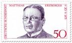 Stamp: Matthias Erzberger (Politiker und Schriftsteller)