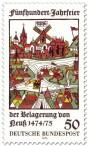 Stamp: Mittelalterliche Belagerung von Neuss