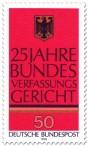Stamp: 25 Jahre Bundesverfassungsgericht (Bundesadler)