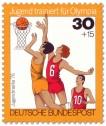Stamp: Jugendliche beim Basketball