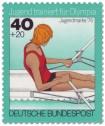 Stamp: Jugendliche beim Einer-Rudern