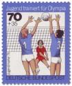 Stamp: Jugendliche beim Volleyball