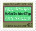 Stamp: Paul Gerhardt Komposition (Noten)